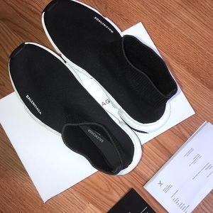 Balenciaga Shoes - Balenciaga Speed Trainer Black White